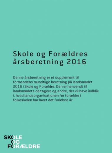 Forside årsberetning 2016